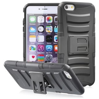 NEW MaxHawks® iPHONE 6 PLUS Scratch-Resistant Shock Absorbent Dual Layer Case Non Slip & Kick Stand