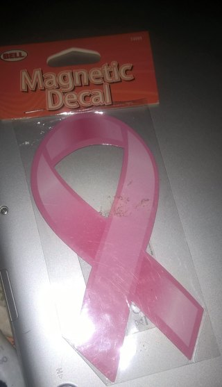 Magnetic Breast Cancer Decal