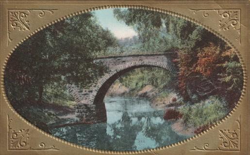 Vintage Used Postcard: Beautiful Stone Bridge
