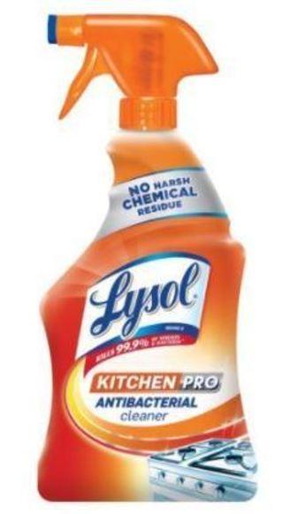 Lysol Kitchen Pro Antibacterial Kitchen Cleaner Spray, 22oz, No Harsh Chemicals