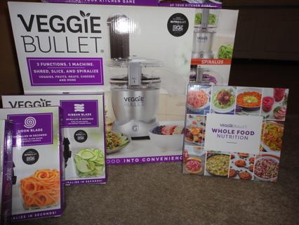 Veggie Bullet by Nutribullet + Extras! Brand New!