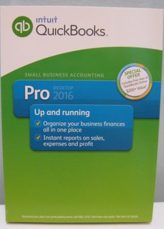 INTUIT QUICKBOOKS PRO 2016 FOR WINDOWS , FULL RETAIL VERSION , NEW IN BOX