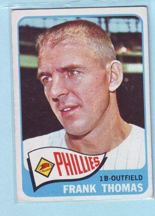 1965 Topps Frank Thomas Baseball Card # 123 Phillies