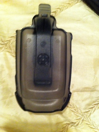 Smoke black clear flip phone case with belt clip