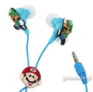 Free: Super Mario Bros Headphones Earphone Earbuds Headset 3 5mm In