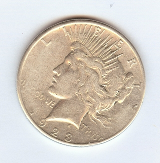 *REAL* 1923-S Peace Silver Dollar