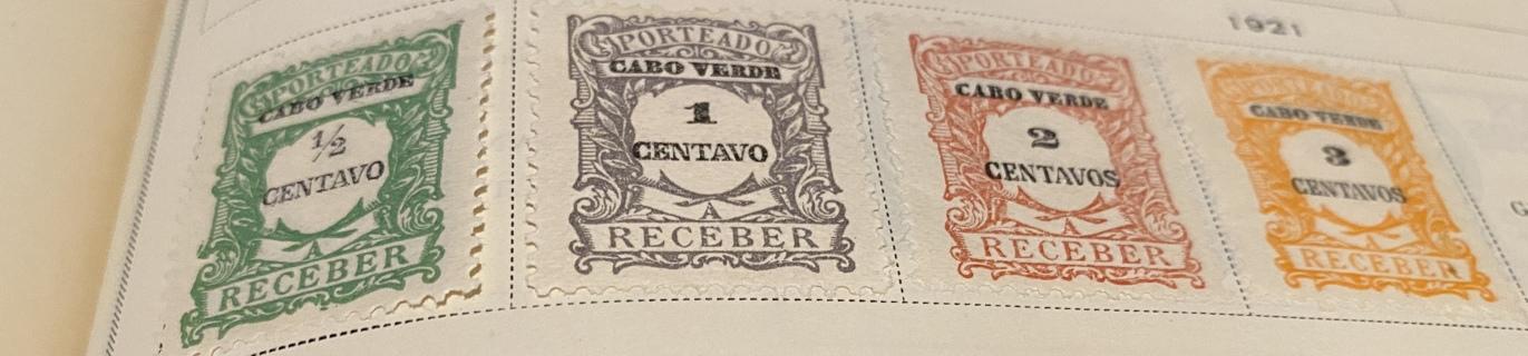 1921 Cape Verde 4 stamps