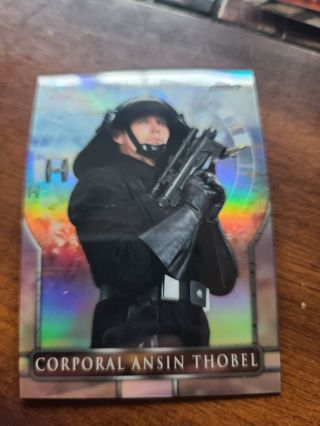 2018 topps finest star wars refractor Corporal Ansin Thobel