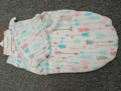 NWT!! Baby Girls Swighles Plush Swaddle---Soft n Warm--Size 0-3mths