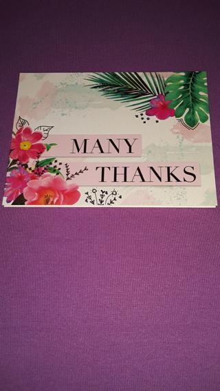 Notecards - Many Thanks