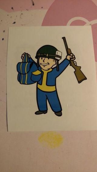 Fallout window sticker vault boy
