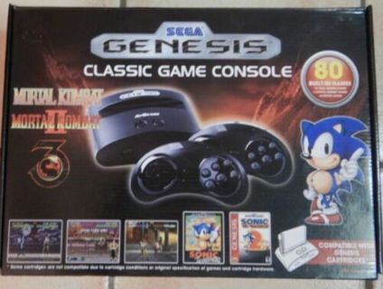 Sega Genesis Classic Game Console w/ 80 Built-In Games FREE SHIPPING