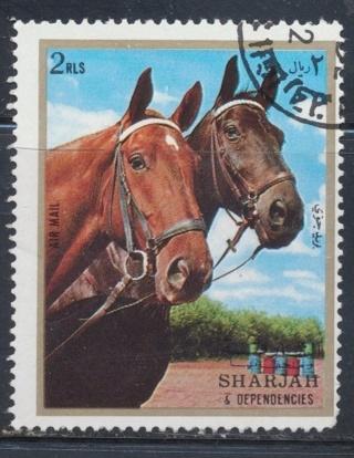 Sharjah: 1973, Two Horses, Michel # AE-SH-1281 - SHA-1600d