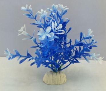12cm Aquarium-artificial-plant Flower Plants Blue Simulation Aquatic Weeds For Fish Tank Decor