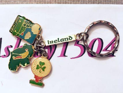 Cute Luck Charm Keychain gold tone