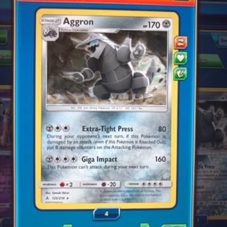 Aggron 125/214 Pokemon online digital card