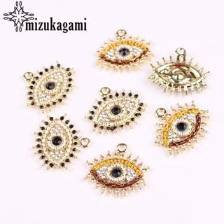 Demon Eyes Charms Zinc Alloy Golden Handmade Pendants 22X24mm 4pcs/lot