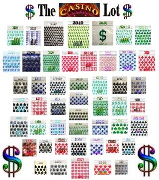 "100 CASINO LOT APPLE ZIPLOCK BAGGIES 1X1"" - 3x4"" DOLLARS MONEY"