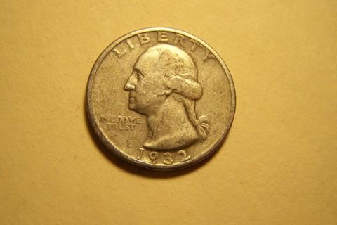 First Year! Silver 1932 Washington Quarter