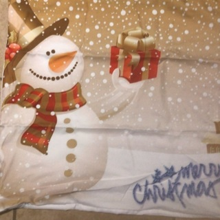 Holiday Pillow Cover & Free Christmas Card.