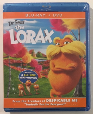 Dr. Seuss' The Lorax Blu-Ray / DVD Combo Movie - Brand New Factory Sealed!