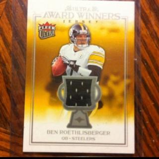 promo code c28c5 b75e7 Free: Ben Roethlisberger Jersey Card Pittsburgh Steelers ...