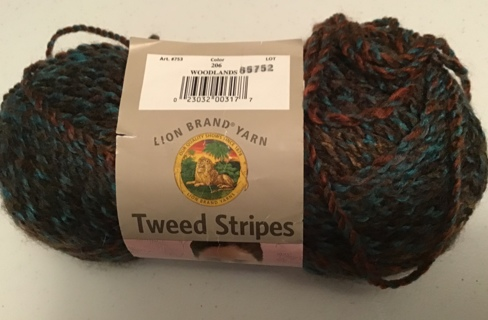 Lion brand yarn woodlands color tweed stripes bulky 100% acrylic 144 yds 3 oz skein