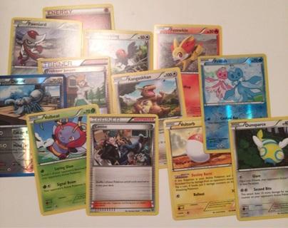12 Pokemon cards