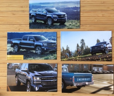 5 Chevy Truck Themed Envelopes-Heavyweight