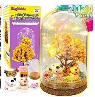 HeyKiddo Make Your Own Magic Night Light - Fairy Lantern Craft Kit