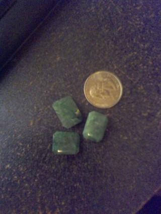 3 Natural Earth Mined Zambian Emeralds! Gift W/Gin