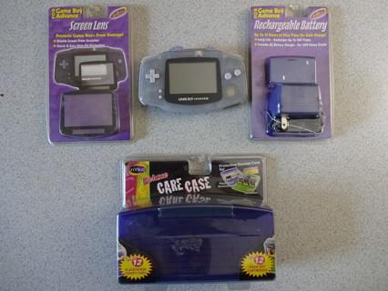 Nintendo GBA Game Boy Advance w/New Accessories