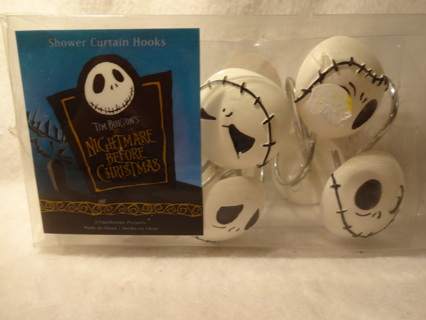 FREE NIGHTMARE BEFORE CHRISTMAS SHOWER CURTAIN HOOKS 12 Ct