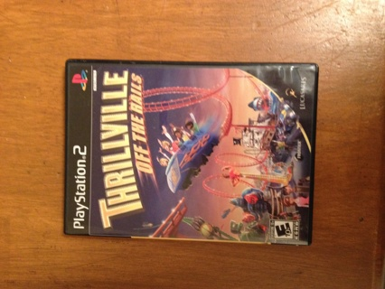 THRILLVILLE OFF THE RAILS Playstation 2 game! FREE SHIPPING!!Reduced from a 10 day To 3 day auction!