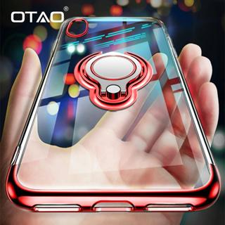 OTAO Ultra Thin Transparent Phone Case For iPhone XS MAX XR X 8 7 6 6S Plus Car Magnetic Cases Fin
