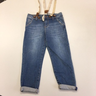 Girls Size 6x Jeans With Suspenders By Osh Kosh