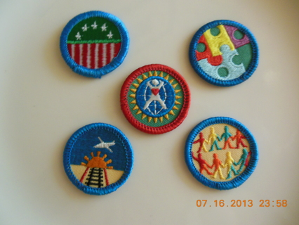 **5 Girl Scout Badges**