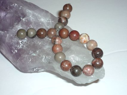 "Natural Jasper Gemstone Beads 8mm 1 Strand (7""), #20 Pcs. Beads for Jewelry Making, Arts, Crafts!"