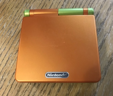 Rare and Hard to Find Limited Edition Gameboy SP Orange/Lime