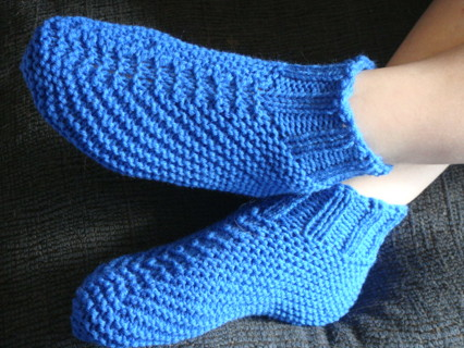 Free: Adult Quick and Easy Knit Bootie Slipper Pattern 3 ...