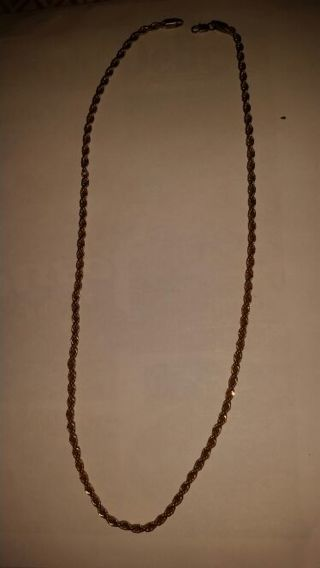 Gold rope knecklace