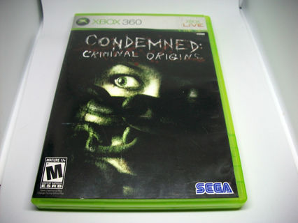 CONDEMNED - Microsoft Xbox 360 Action/Horror/Shooter Game