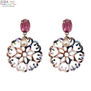 JUJIA 4 colors fashion good quality women statement drop Earrings for women fashion earring wholes