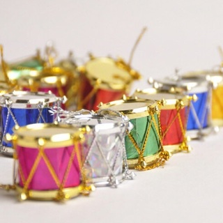 Christmas Drum Decor.Free 20 Pcs Drum Pendant Christmas Tree Hanging Ornaments