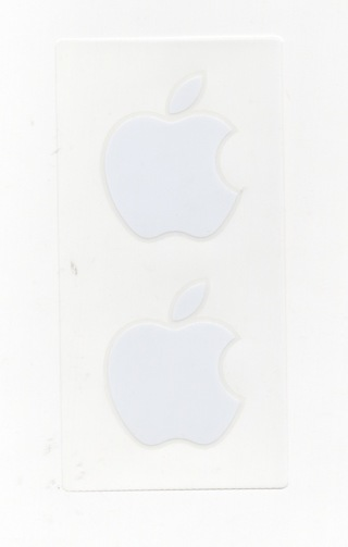 2 AUTHENTIC APPLE STICKERS FROM iPHONE! FREE SHIPPING!