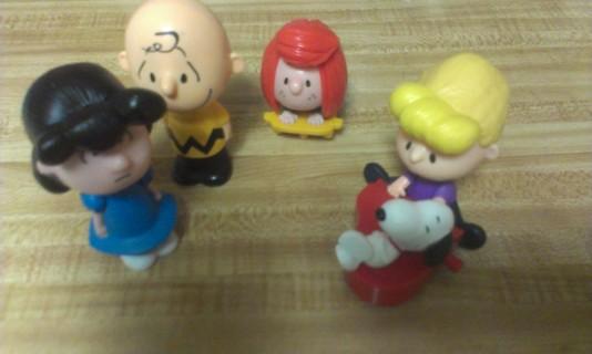 Peanuts Gang 2015 McDonald Toys 4 different