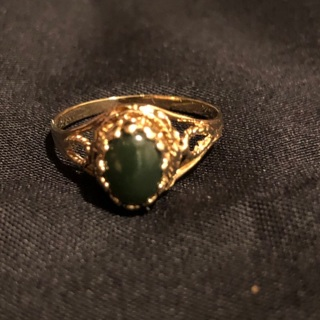 10k Yellow Gold Jade Ring