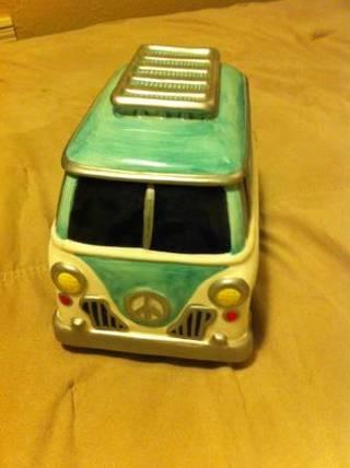 Hippy Vw Bus Volkswagen Van Cookie Jar