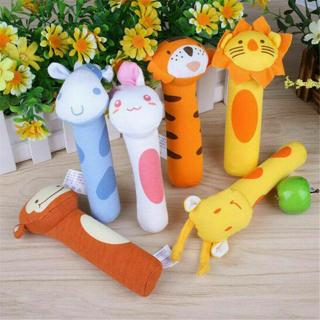 HOT Soft Sound Animal Handbells Plush Squeeze Rattle Toys For Newborn Baby Gifts
