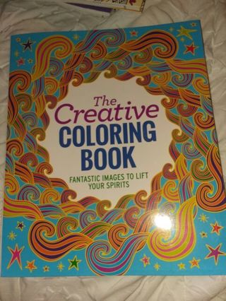 New The Creative Coloring Book Fantastic Images To Lift Your Spirits!!